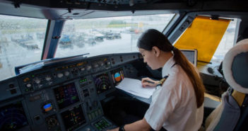 female copilot in cockpit in china