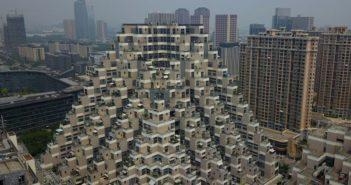 pyramid shaped residential building in kunshan