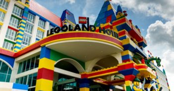 ground view of hotel entrance at legoland