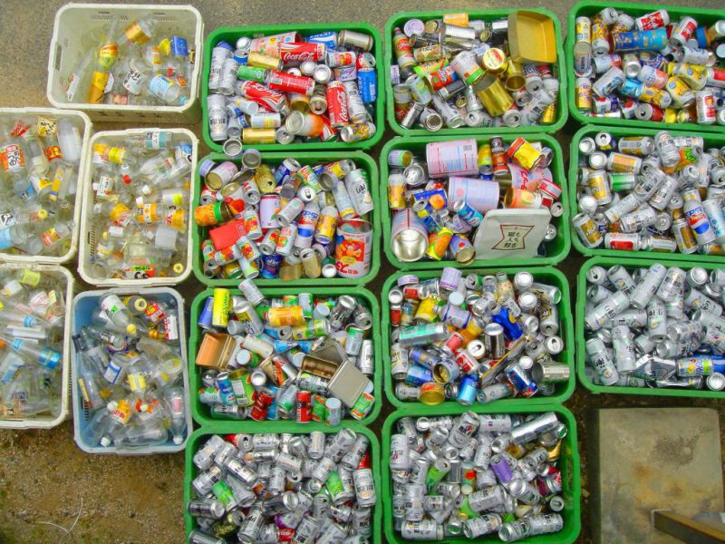 top view of rubbish sorting in Kamikatsu