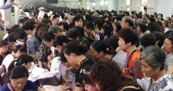 senior citizens signing up for university in hefei
