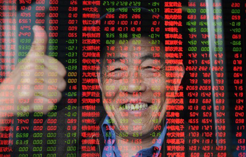 中国股市出现两年来最大单日涨幅