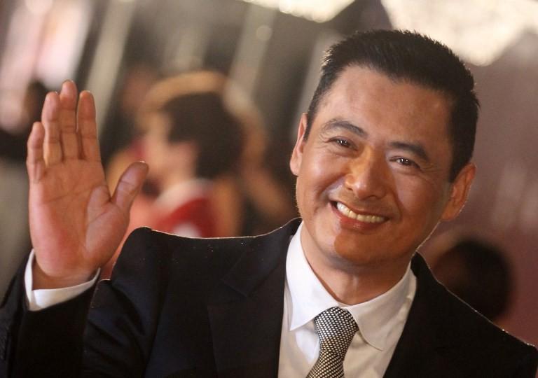 Chow Yun-fat waving