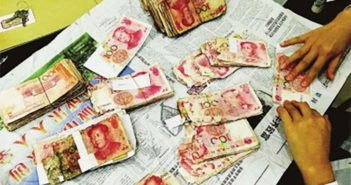 rotten rmb on a table