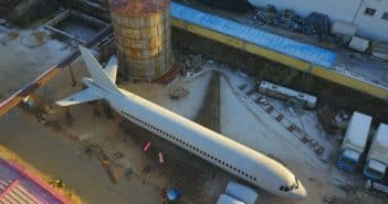 top view of airbus a320 model build by farmer in china