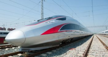 front and side view of fuxing bullet train in china