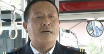 bus driver giving interview in china