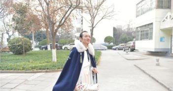 man in traditional han attire in china