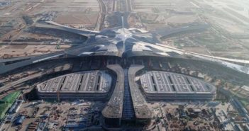 arial view of daxing international airport
