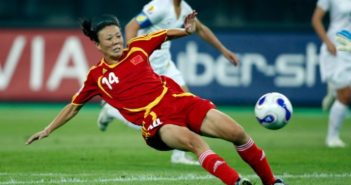 zhang ouying playing for china in football game