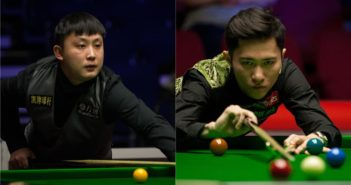 two chinese snooker players