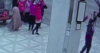 unties dancing in hotel lobby in china