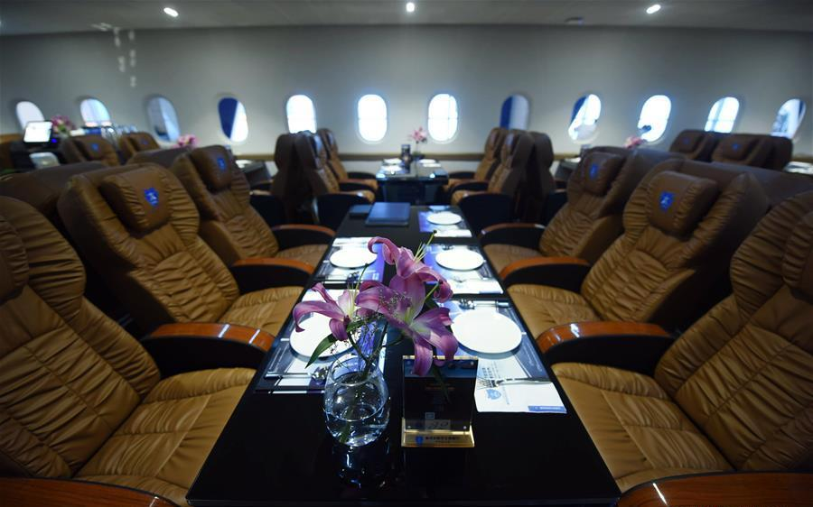 interior of aeroplane themed restaurant in hangzhou
