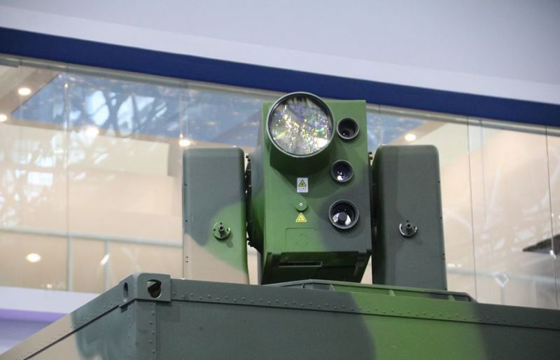 laser weapon mounted on chinese military vehicle