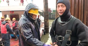 frogman in wetsuit in china
