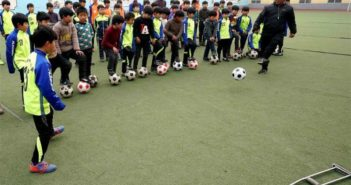 football sports class at school in china