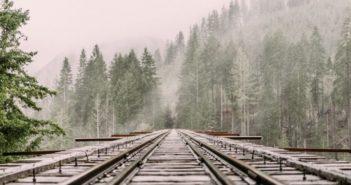 mountain railway track
