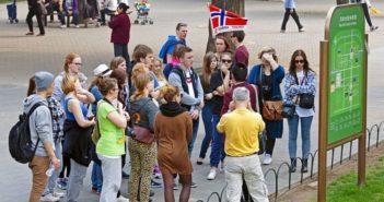 Norwegian tourists in beijing