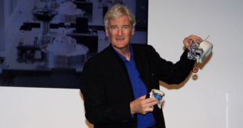 james dyson holding electrical components