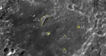 lunar image showing locations with chinese names