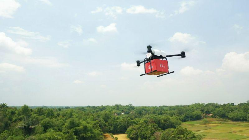 京东在印尼完成首次无人机配送