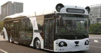 front and side view of smart panda bus in china