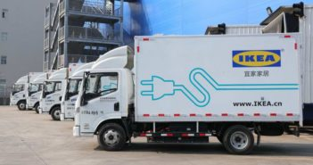 IKEA electric delivery truck in shanghai