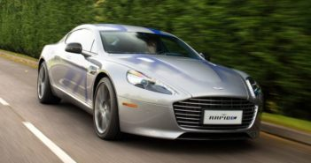 front and side view of aston martin e rapide