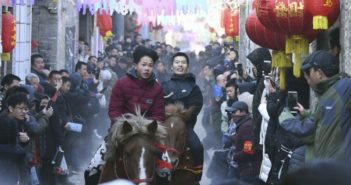 horse racing event in chinese village