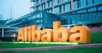 alibaba sign outside head office in hangzhou