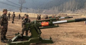artillery guns modified to fight fires in china