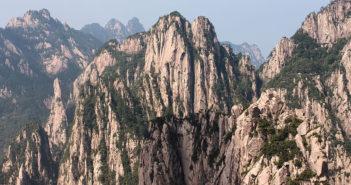 mountain range at China's Mt. Huang