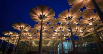 flower umbrella constructs at beijing horticultural expo
