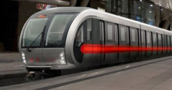 front and side view of beijing metro train