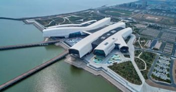 aerial view of national maritime museum of china
