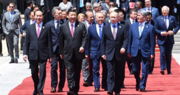 world leaders exiting belt and road forum in beijing