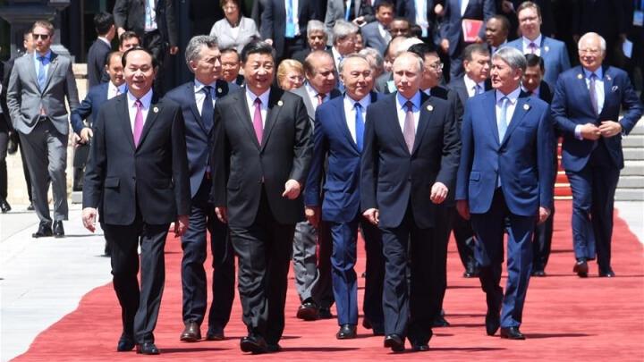world leaders exiting belt and road forum in beijing