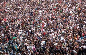 huge crowds of people