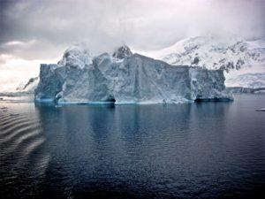 ice glacier in antractica
