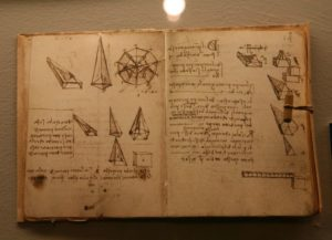 da vinci's open notebook