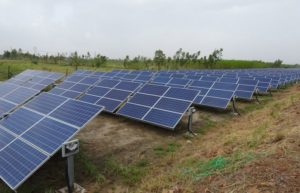 solar panels installed in countryside