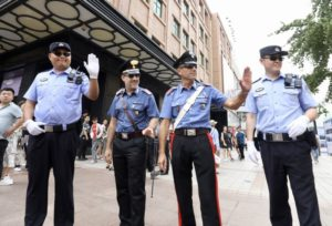 chinese and italian police on joint patrol in beijing