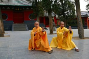 shaolin monks at temple