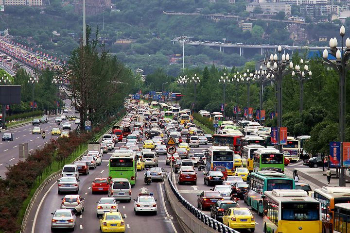 traffic jam in chongqing