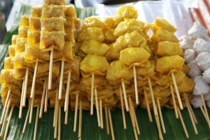 friend snack food on sticks
