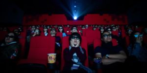 movie audience at cinema in china