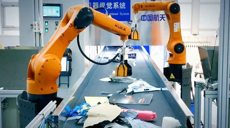 rubbish sorting robot in china