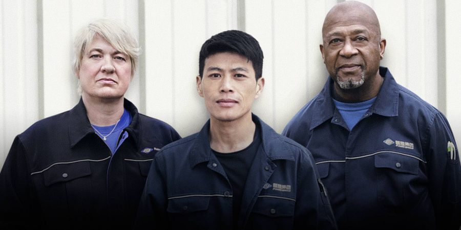 three people from the US documentary American Factory
