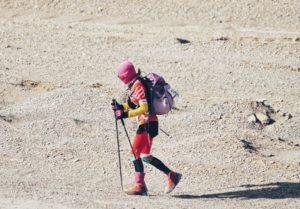 side view of desert race runner
