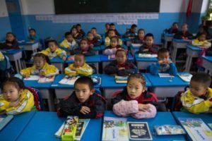 children in classroom in shanghai
